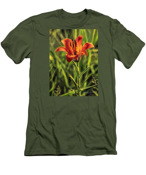 Prairie Lily Men's T-Shirt (Slim Fit) by Bruce Morrison