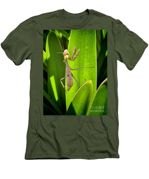 Men's T-Shirt (Slim Fit) featuring the photograph Praying Mantis by Kasia Bitner