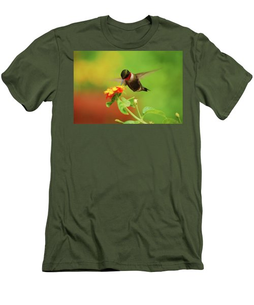 Pretty As A Picture Men's T-Shirt (Slim Fit) by Lori Tambakis