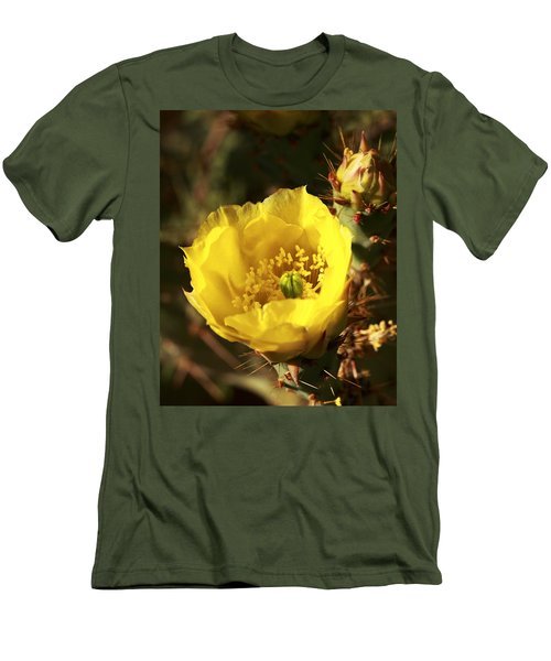 Prickly Pear Flower Men's T-Shirt (Athletic Fit)