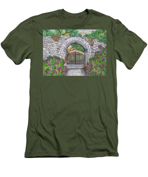 Private Garden At Sunset Men's T-Shirt (Athletic Fit)