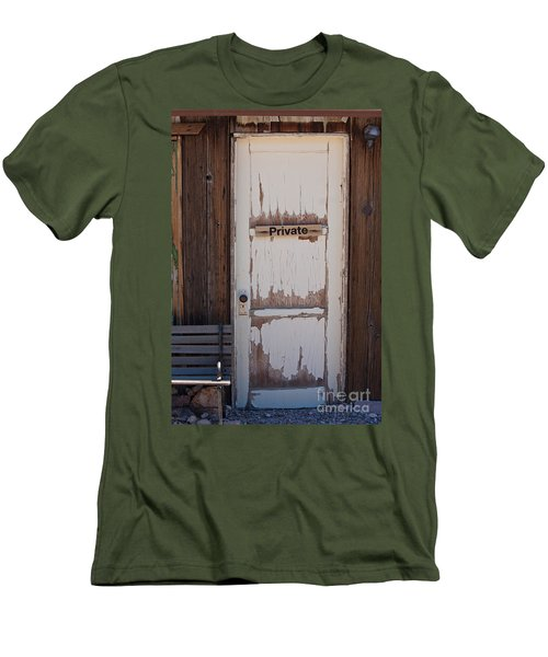 Men's T-Shirt (Slim Fit) featuring the photograph Private by Gunter Nezhoda
