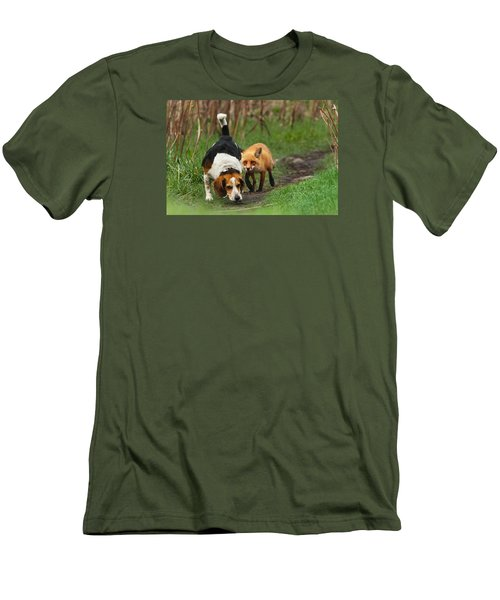 Probably The World's Worst Hunting Dog Men's T-Shirt (Slim Fit) by Mircea Costina Photography