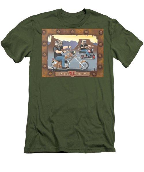 Pug Ugly M.c. Men's T-Shirt (Slim Fit) by Stuart Swartz