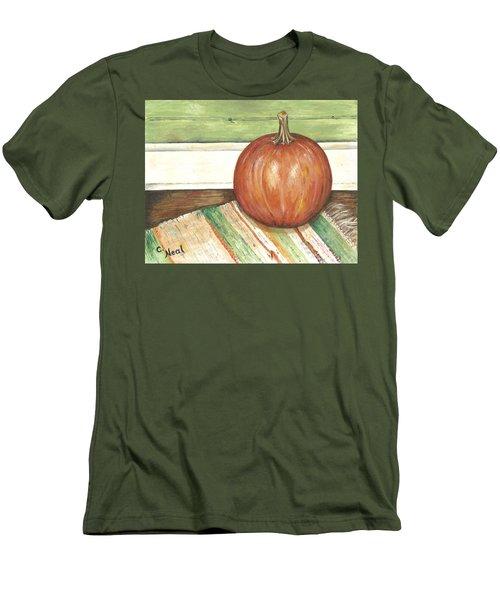 Pumpkin On A Rag Rug Men's T-Shirt (Athletic Fit)