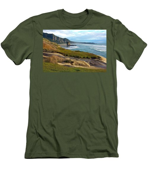 Men's T-Shirt (Slim Fit) featuring the photograph Punakaiki Truman Track by Stuart Litoff