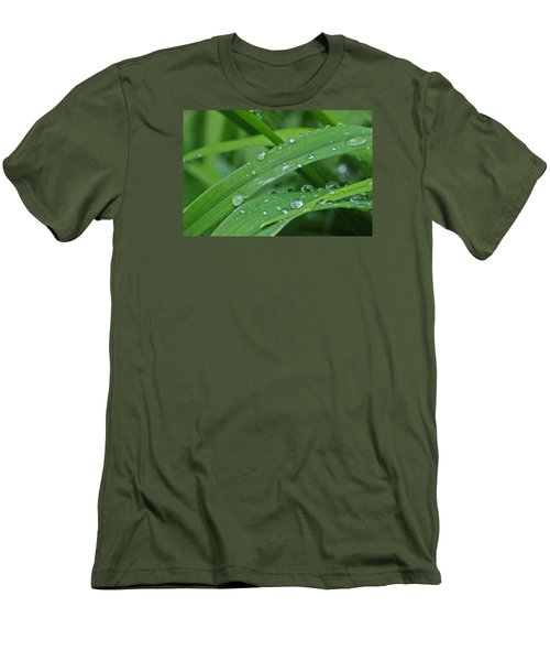 Pure Green Men's T-Shirt (Slim Fit) by Julie Andel