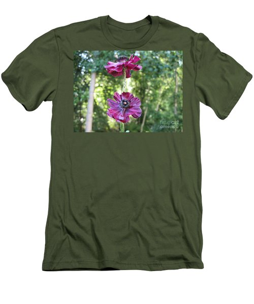 Men's T-Shirt (Slim Fit) featuring the photograph Purple Flowers by HEVi FineArt