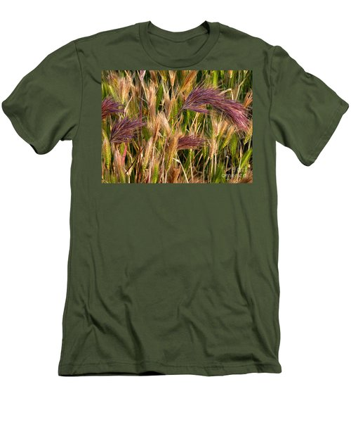 Purple Grasses Men's T-Shirt (Athletic Fit)