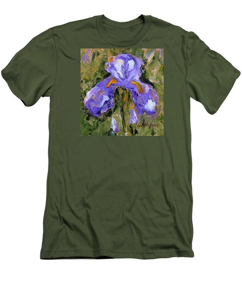 Purple Iris2 Men's T-Shirt (Athletic Fit)