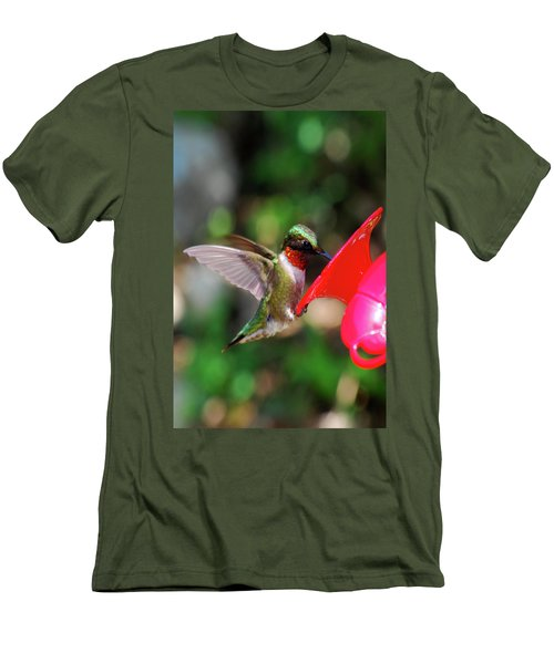 Radiant Ruby Men's T-Shirt (Slim Fit) by Lori Tambakis