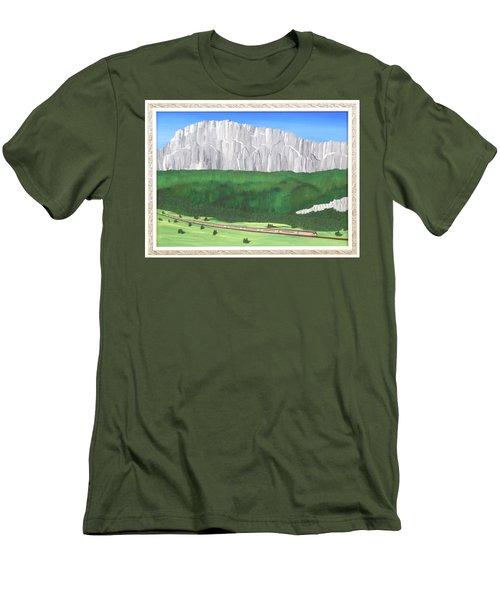 Railway Adventure Men's T-Shirt (Slim Fit) by Ron Davidson