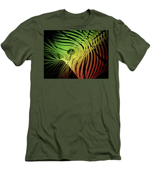 Rainbow Ribs Men's T-Shirt (Slim Fit)