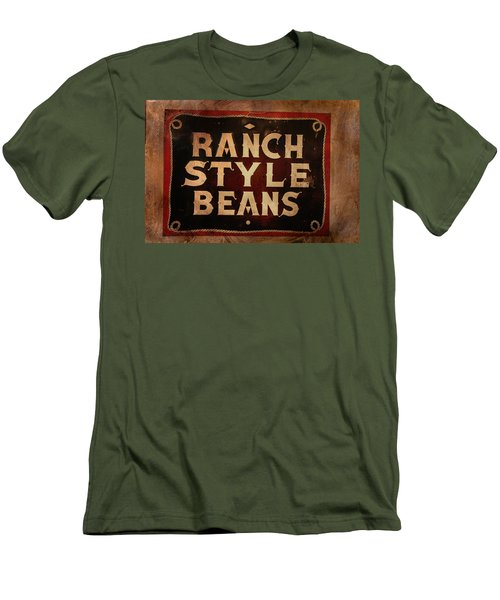 Men's T-Shirt (Slim Fit) featuring the photograph Ranch Style Beans by Toni Hopper