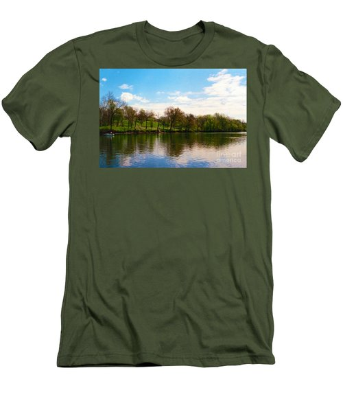 Rappahannock River I Men's T-Shirt (Slim Fit) by Anita Lewis