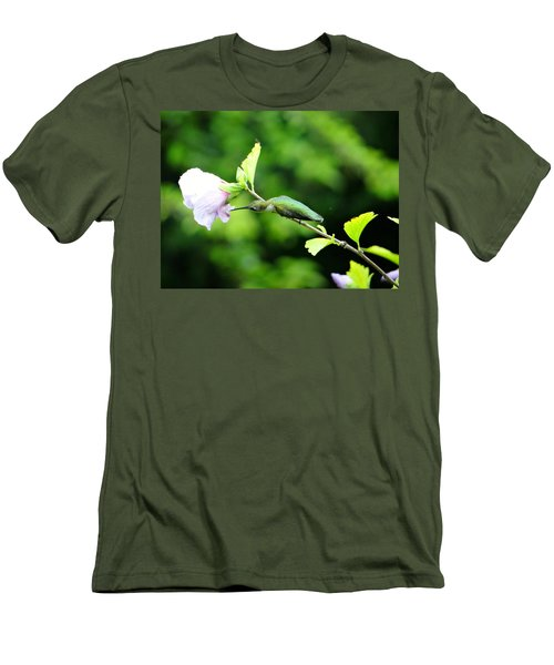 Men's T-Shirt (Slim Fit) featuring the photograph Reaching For Nectar by Ecinja