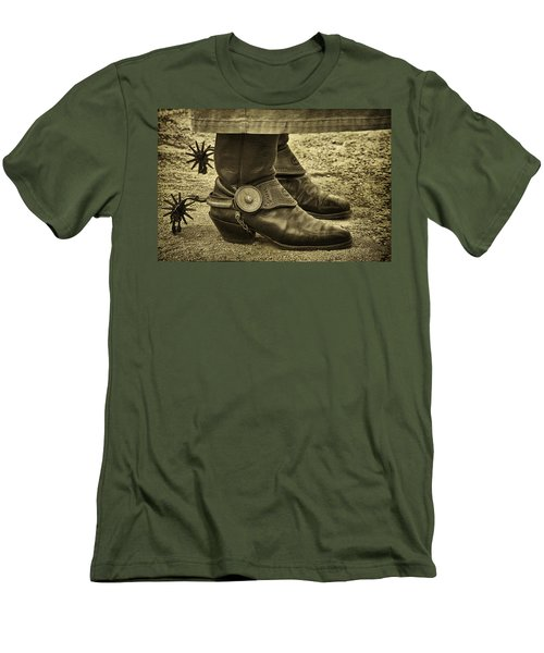 Men's T-Shirt (Slim Fit) featuring the photograph Ready To Ride by Priscilla Burgers