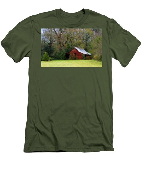 Red Barn Men's T-Shirt (Athletic Fit)