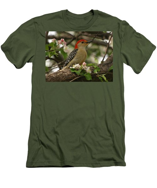 Men's T-Shirt (Slim Fit) featuring the photograph Red-bellied Woodpecker by James Peterson