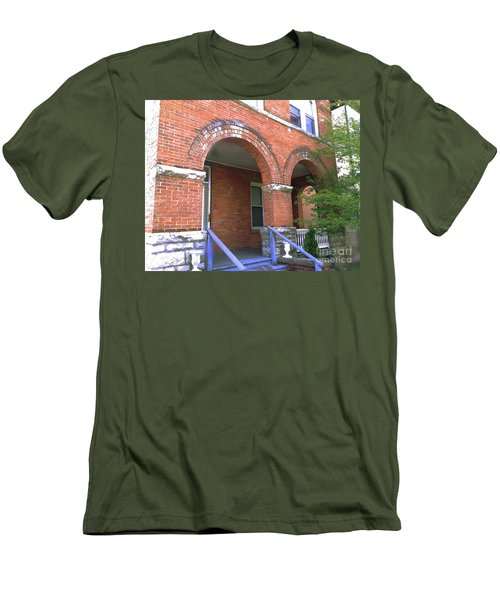 Men's T-Shirt (Slim Fit) featuring the photograph Red Brick Archway by Becky Lupe