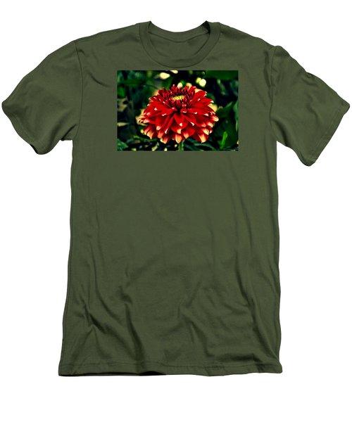Red Dahlia Men's T-Shirt (Slim Fit) by Salman Ravish