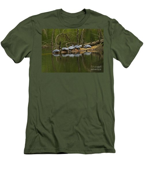 Red-eared Slider Turtles Men's T-Shirt (Athletic Fit)