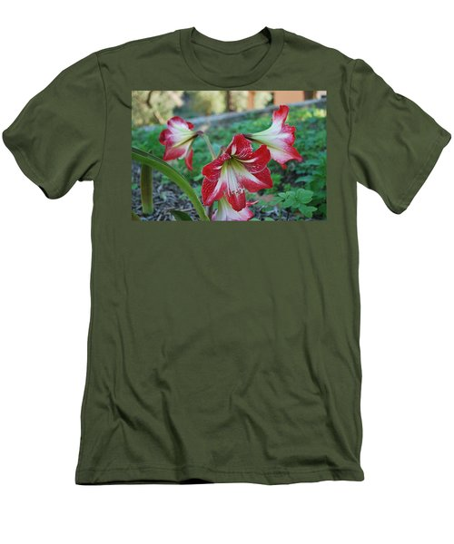 Red Flower 1 Men's T-Shirt (Athletic Fit)