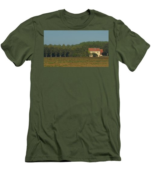 Red French Cottage Men's T-Shirt (Athletic Fit)