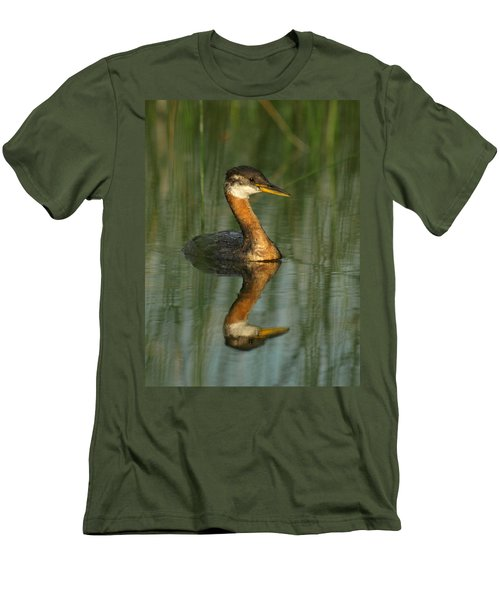 Men's T-Shirt (Slim Fit) featuring the photograph Red-necked Grebe by James Peterson