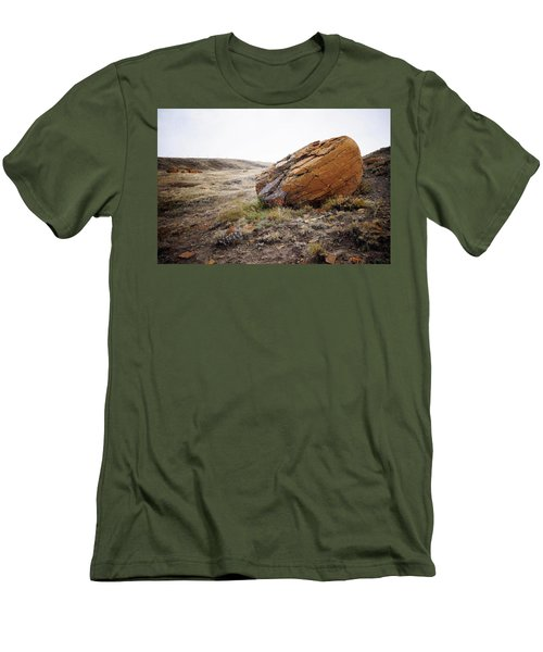 Red Rock Coulee IIi Men's T-Shirt (Slim Fit) by Leanna Lomanski