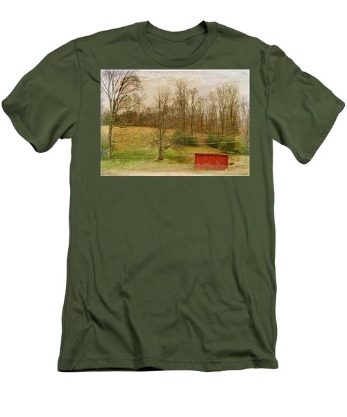 Red Shed Men's T-Shirt (Slim Fit) by Paulette B Wright