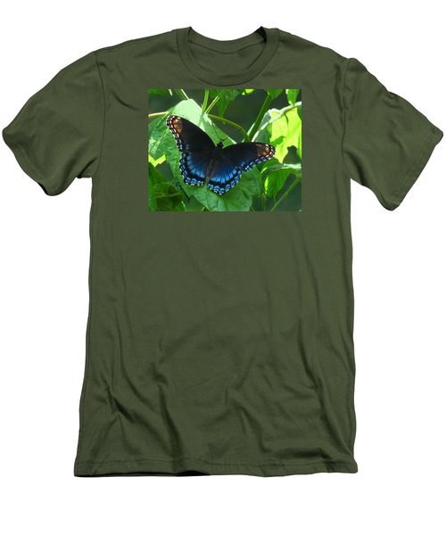 Red-spotted Admiral Butterfly Men's T-Shirt (Slim Fit) by William Tanneberger
