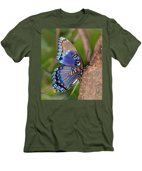 Red Spotted Purple Butterfly Men's T-Shirt (Athletic Fit)
