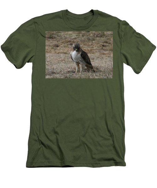 Men's T-Shirt (Slim Fit) featuring the photograph Red Tailed Hawk by Neal Eslinger