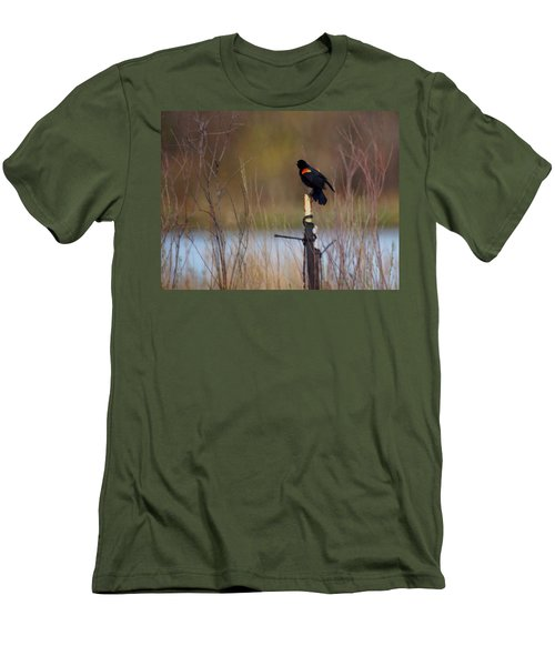 Red Winged Blackbird 2 Men's T-Shirt (Athletic Fit)