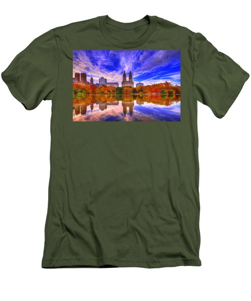 Reflection Of City Men's T-Shirt (Slim Fit) by Midori Chan