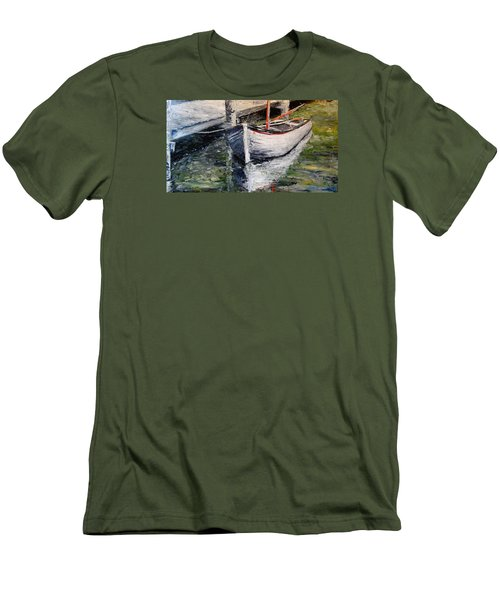 Men's T-Shirt (Slim Fit) featuring the painting Reflections by Alan Lakin