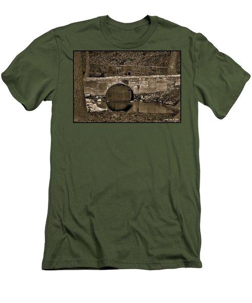 Men's T-Shirt (Slim Fit) featuring the photograph Reflective Bridge by Tara Potts