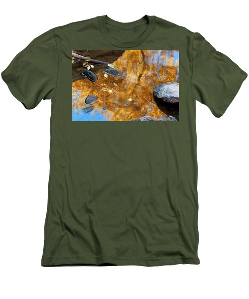 Men's T-Shirt (Slim Fit) featuring the photograph The Melting Pot by Jim Garrison