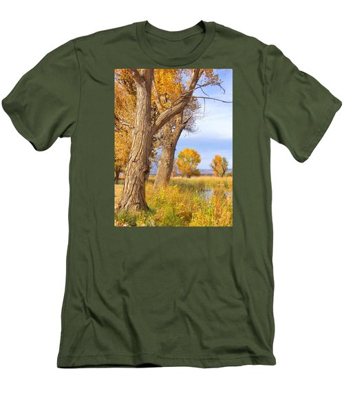 Men's T-Shirt (Slim Fit) featuring the photograph Remembering Autumn by Marilyn Diaz