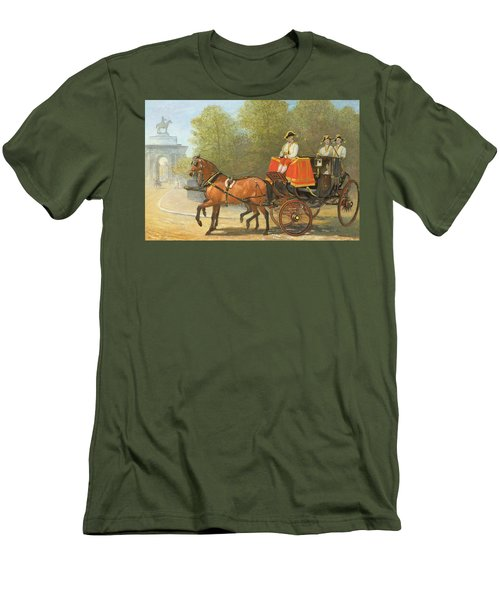 Returning From Her Majestys Drawing Room Men's T-Shirt (Slim Fit) by Alfred Corbould