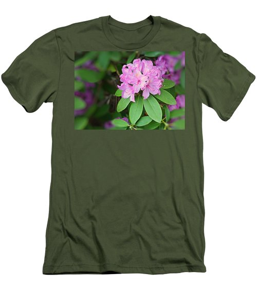 Rhododendron Men's T-Shirt (Slim Fit) by Kristin Elmquist
