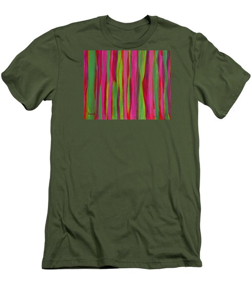 Ribbons Men's T-Shirt (Slim Fit) by Donna  Manaraze