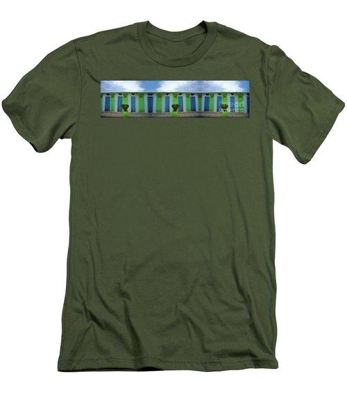 Rimini Beach Panorama Men's T-Shirt (Athletic Fit)