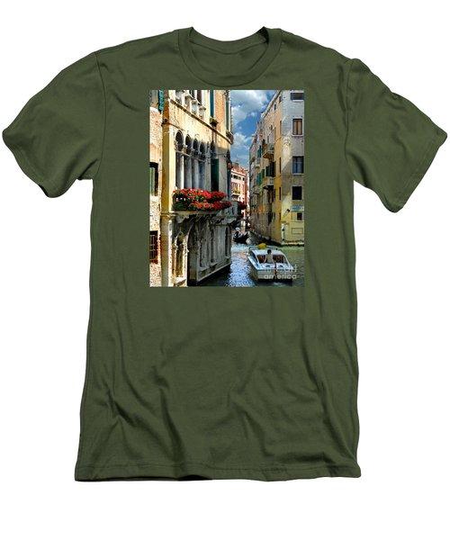 Men's T-Shirt (Slim Fit) featuring the photograph Rio Menuo O De La Verona. Venice by Jennie Breeze