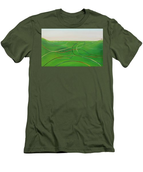 Men's T-Shirt (Slim Fit) featuring the painting Ripples Of Life 1 by Tim Mullaney