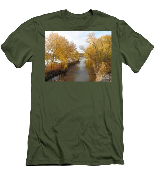 Men's T-Shirt (Slim Fit) featuring the photograph River And Gold by Christina Verdgeline