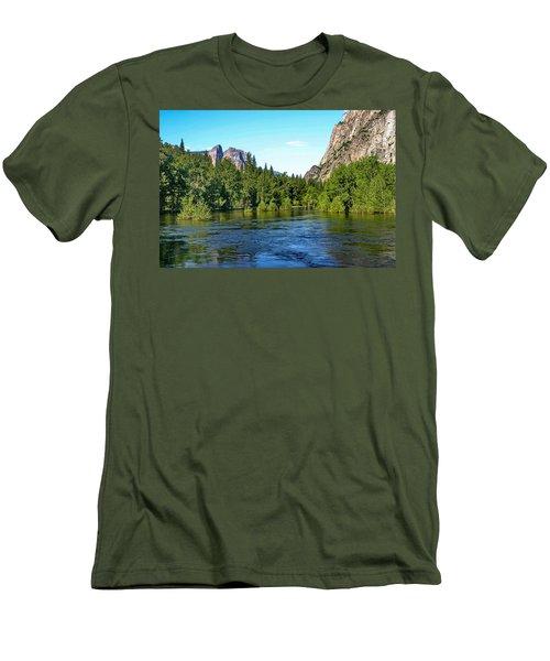 Yosemite National Park Men's T-Shirt (Slim Fit) by Menachem Ganon