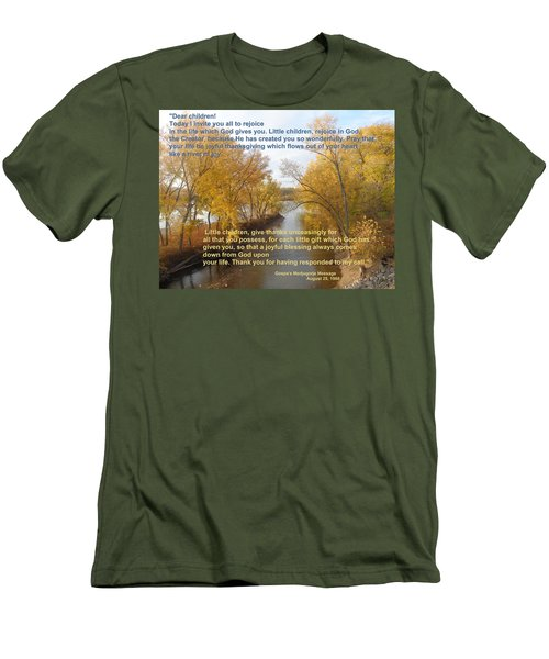 Men's T-Shirt (Slim Fit) featuring the photograph River Of Joy by Christina Verdgeline