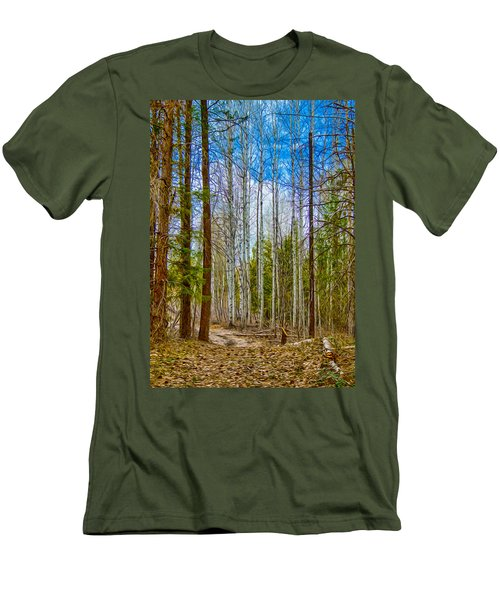 River Run Trail At Arrowleaf Men's T-Shirt (Athletic Fit)